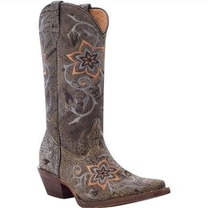 Rocky floral boots